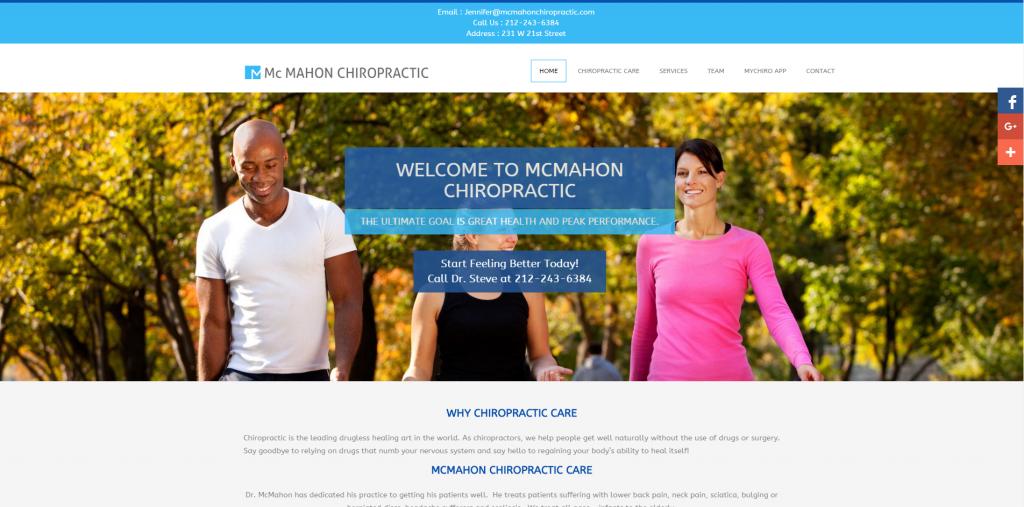 mcmahon chiropractic website