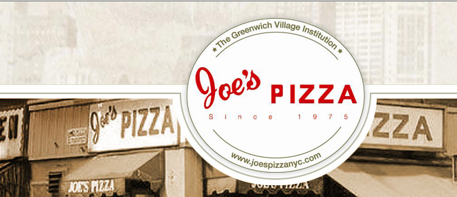 best pizzeria websites - joe's