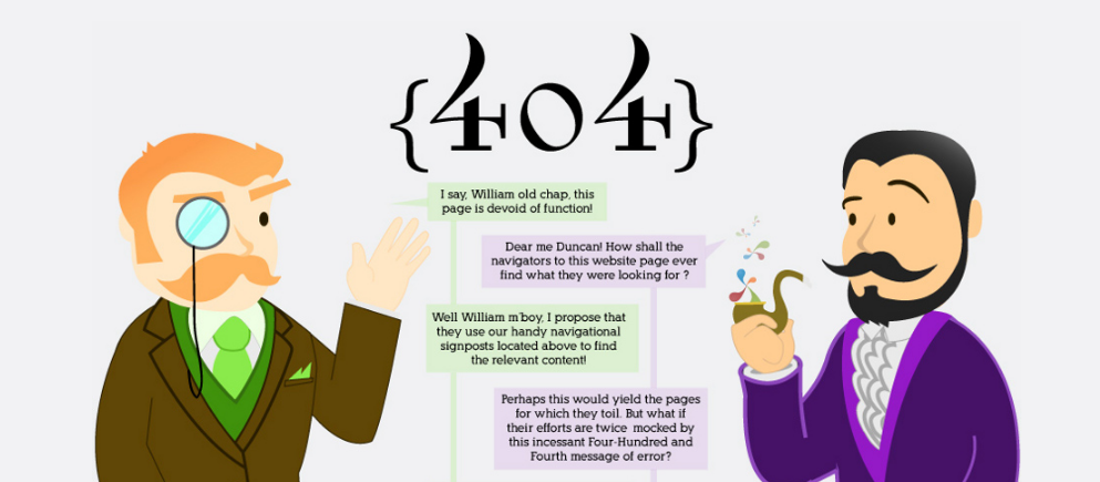 distilled funny 404 pages
