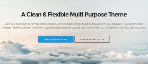 parallax scrolling wordpress theme - hatch