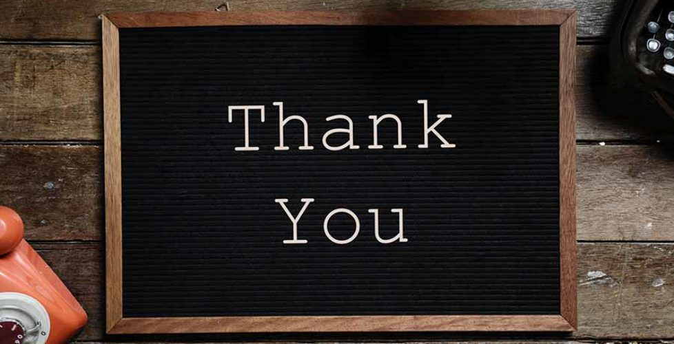 Different ways of thanking customers